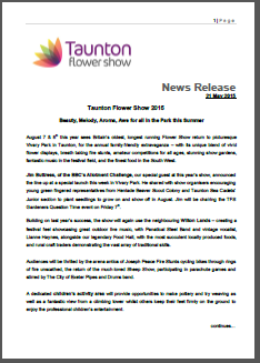 Thumbnail view of a press release